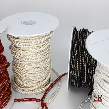 Cordon polyester lurex